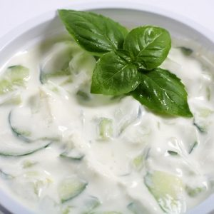 RAITA CUCUMBER OR TOMATO & ONION